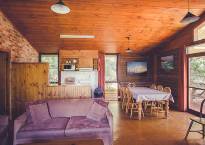 Lighthouse cabin lounge/dining.